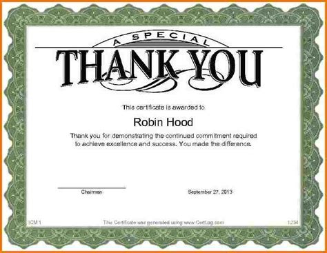 thank you certificates templates thank you certificate template authorization letter pdf