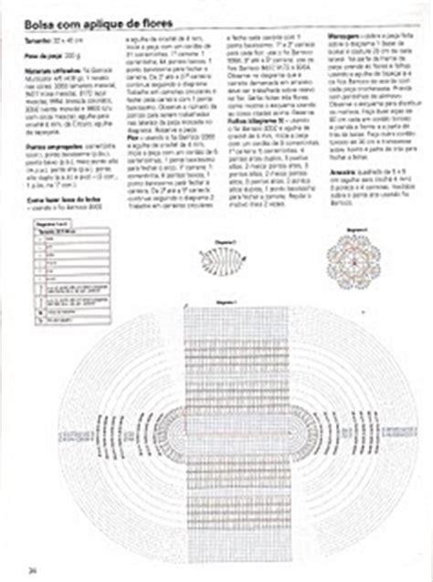 2011 por dul machado marcadores flores de crochet graficos crochet bolsa e mochila de croch 234 com aplique de flores s 243 id 233 ias