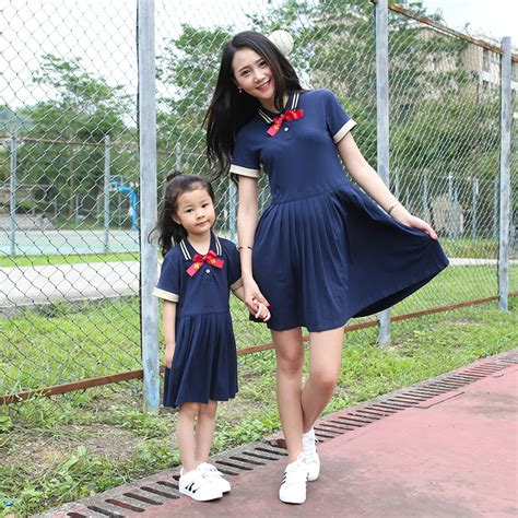 Dress Anak 20 48 20 baju dress korea style untuk ibu dan anak perempuan