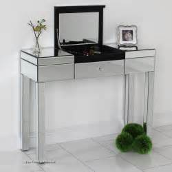 Mirrored Vanity Table Uk Venetian Mirrored Compartment Dressing Table