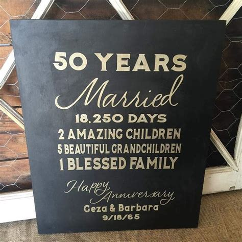 50 yr wedding anniversary 50 year wedding anniversary custom sign in gold black
