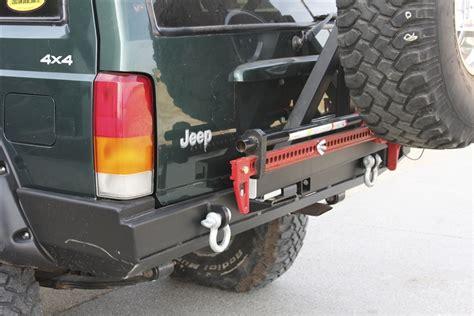 jeep cherokee rear bumper rock hard 4x4 patriot series rear bumper w tire carrier