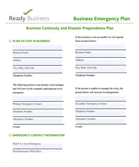 free business plan template pdf business plan templates 8 sles exles format