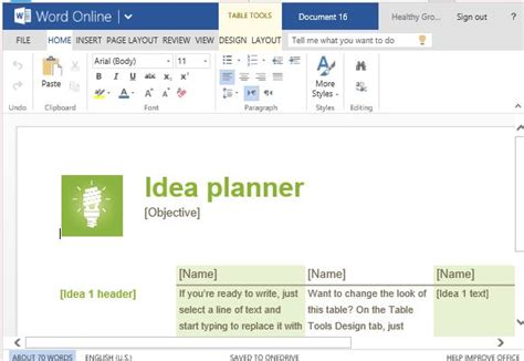 word format templates ideas idea planner template for word
