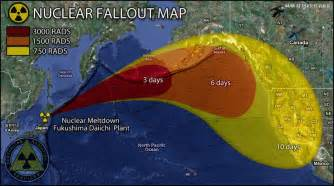 us government nuclear fallout map japan meltdown caused nuke plant explosion safety
