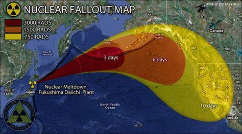 fukushima fallout usa map nuclear fallout map a fraud