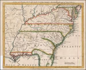 map of virginia carolina and south carolina a map of virginia and south carolina