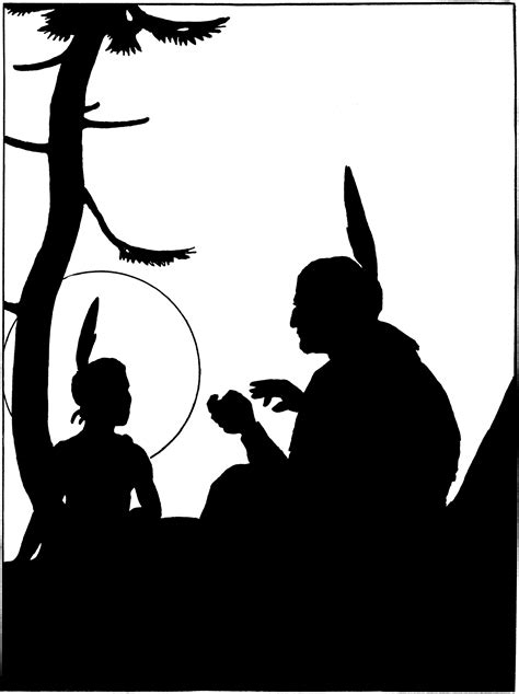 Vintage Native Americans Image - Silhouette! - The