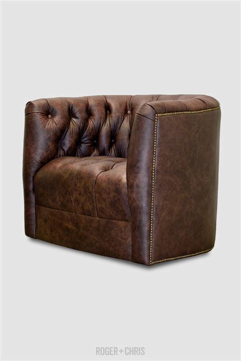 leather barrel swivel chairs oliver tufted barrel chair with swivel and tufted seat in