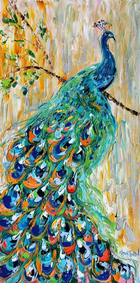 original watercolor painting peacock painting peacock original oil painting peacock bird decorative by karensfineart