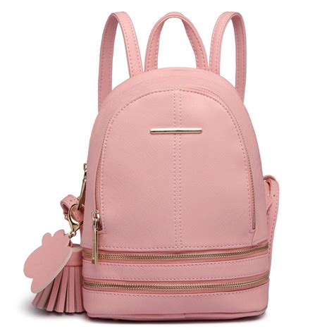 Backpack Fashion lt1705 miss lulu leather look small fashion backpack pink