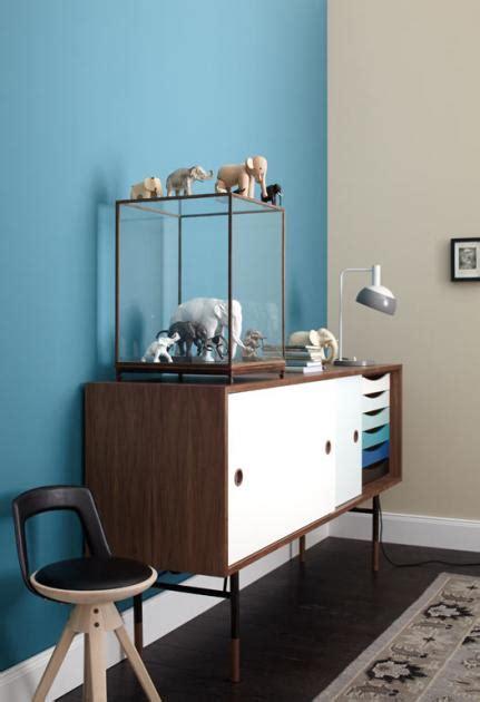 Rauchblau Wandfarbe by Wohnen Mit Farben Wandfarbe Rot Blau Gr 252 N Und Grau
