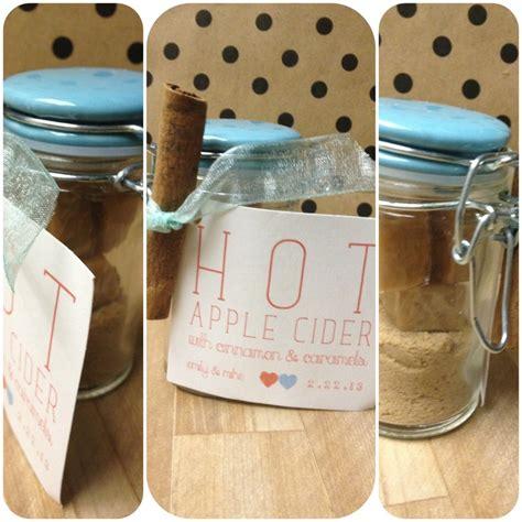 apple cider wedding favors wedding favor apple cider kits w caramels and