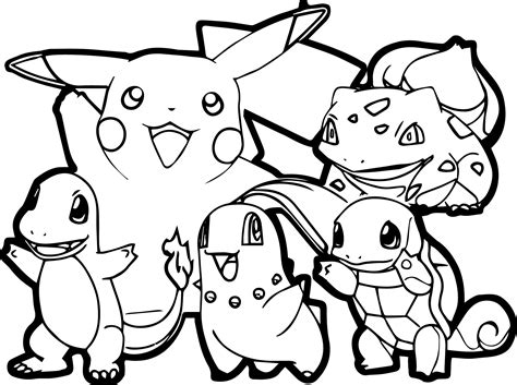 pikachu coloring pages pdf un coloriage simple de pikachu et de ses amis avec des