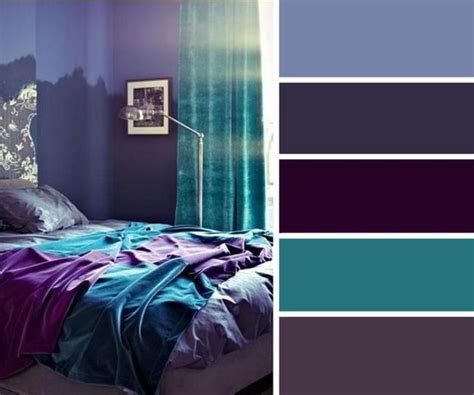 purple color palette bedroom 15 must see turquoise color schemes pins green color