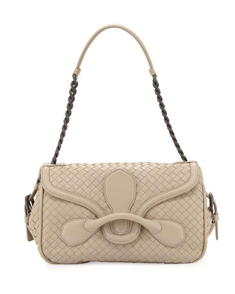 Bottega Veneta Medium Canvas Handbag by Bottega Veneta Intrecciato Medium Leather Shoulder Bag In