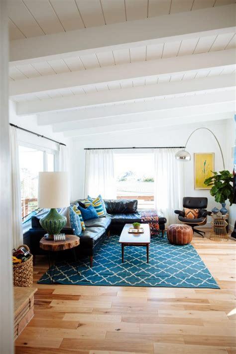schöne moderne teppiche wohnzimmer grau gestalten