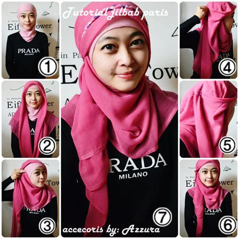 tutorial jilbab paris simple modern modern hijab tutorial segiempat 2015 hijabiworld