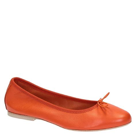 Italian Handmade Flats - handmade orange soft leather ballet flats ballerinas shoes