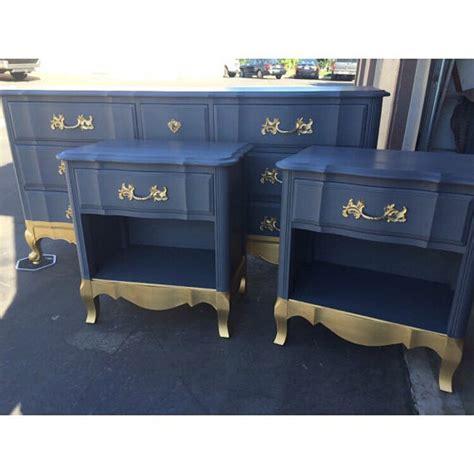 blue dresser gold hardware sle blue and gold 9 drawer french provincial dresser