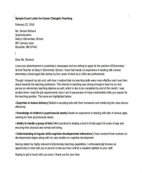 changing industries cover letter cover letter changing industries 6 career change cover