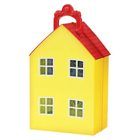 peppa pig doll house videos fisher price 174 peppa pig peppa s peek n surprise playhouse playset target