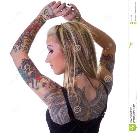tattoo girl on pinterest wings of heart breaker tattoo girl stock photo image of
