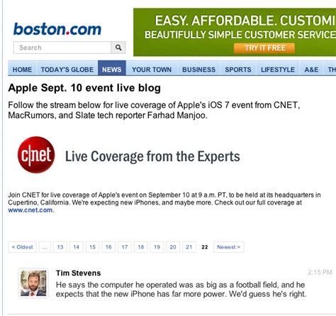 apple coverage how apple s iphone 5c event was covered in real time