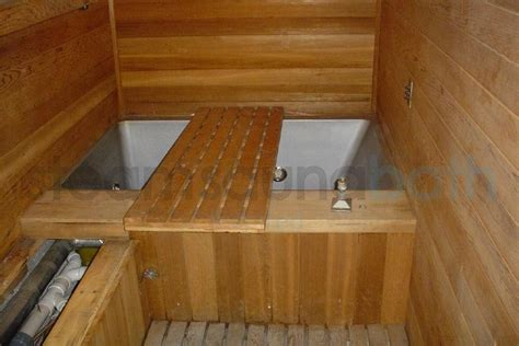 sauna bathtub sauna room with a cold plunge tub rooms bench designs