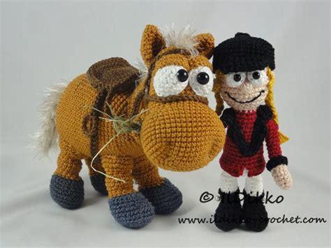 amigurumi horse with rider amigurumi pattern by ildikko craftsy