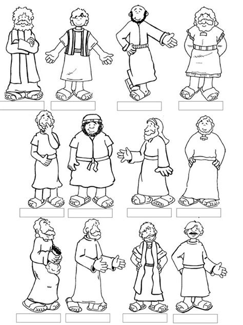 jesus 12 disciples coloring page bible lessons