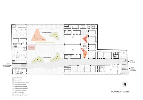 purpose of floor plan multi purpose education centre atelier phileas archdaily