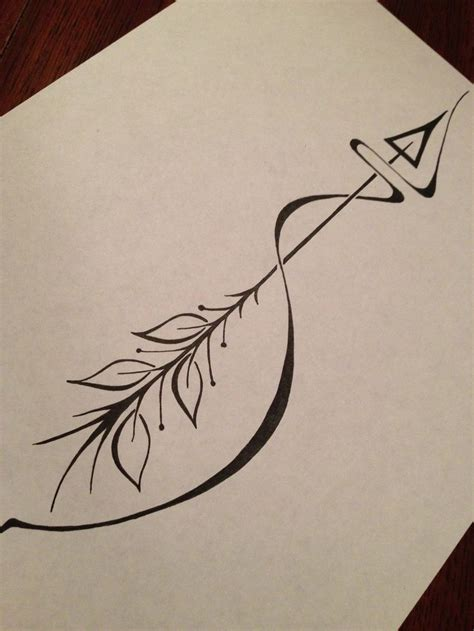 arrow infinity tattoo best 25 bow arrow tattoos ideas on feather