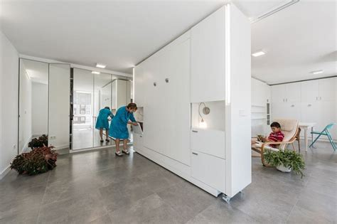 movable walls on wheels innovative modern apartment has movable walls to create