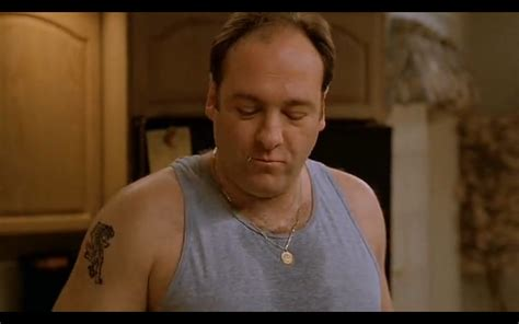tony soprano tattoo gandolfini as tony we and the
