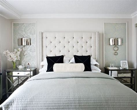 bedroom wallpaper ideas decorating decorating bedroom gray white silver mirrored nightstands