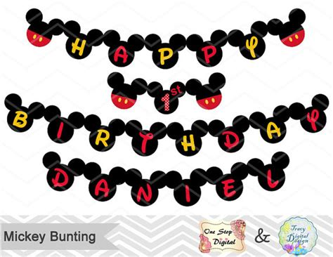design banner mickey mouse printable mickey bunting printable mickey banner mickey