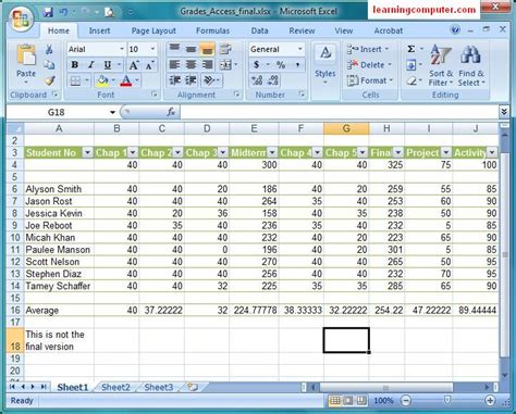 tutorial excel linux microsoft excel 2007 tutorial home tab softknowledge s