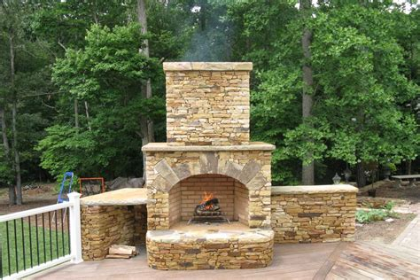 Gas Fireplaces Raleigh Nc by Outdoor Fireplacemasonry Construction