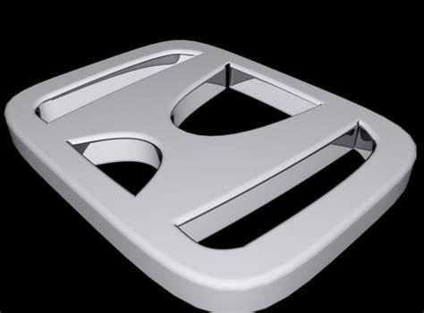 Emblem 3d Logo Sayap Honda Sepasang honda logo 3d model cgtrader
