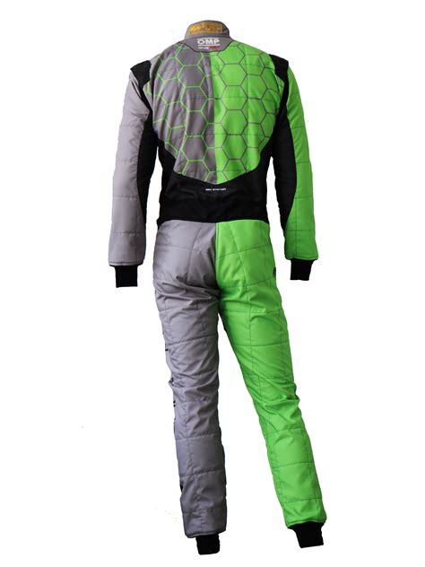 lamborghini suit green black one recing omp professional racing suit by
