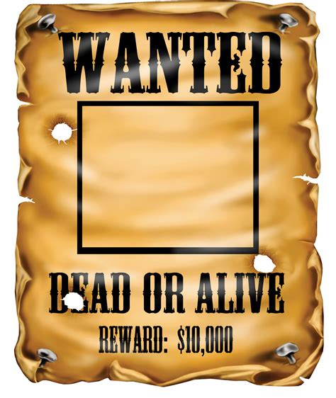 Or Poster Wanted Poster Cliparts The Cliparts