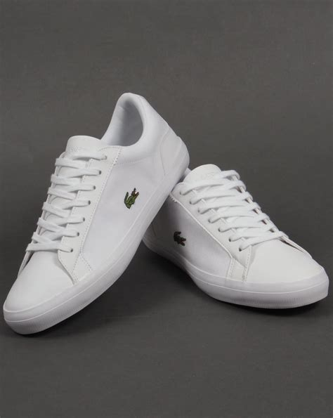 Lacoste Lerond Trainers In White lacoste lerond trainers white white shoes pumps mens