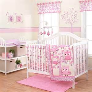 baby bedding set for girls owl crib bedding sets for girls cupfcg bed and bath