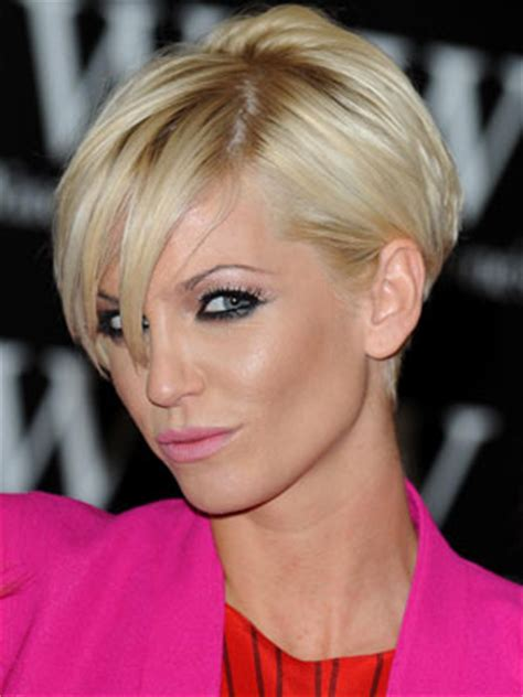 short pushed behind ear celebrity hair styles photos sarah harding s olive branch to nadine coyle celebsnow