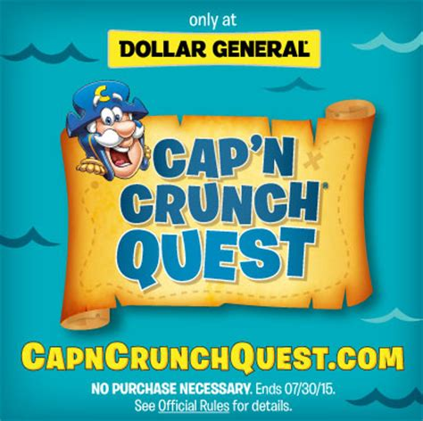 Official Rules No Purchase Necessary Winner Instant Win - cap n crunch quest instant win game did you win