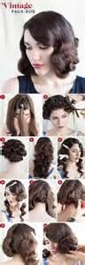 hair tutorials for medium hair 30 diy vintage hairstyle tutorials for short medium long