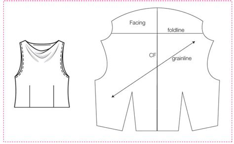 pattern drafting cowl neckline how to draft a cowl neckline in one minute sewing blog