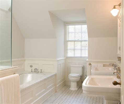 white wainscoting bathroom wainscoting designs bathroom traditional with glass shower