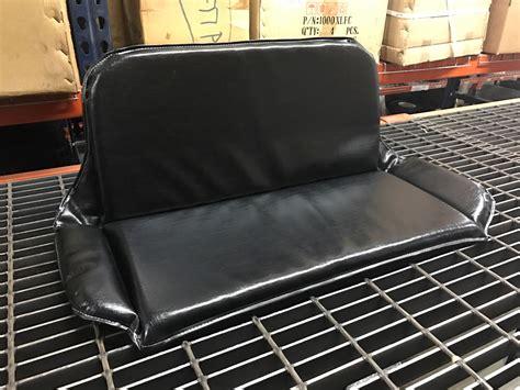 go kart seat cushion padding black vinyl two seater